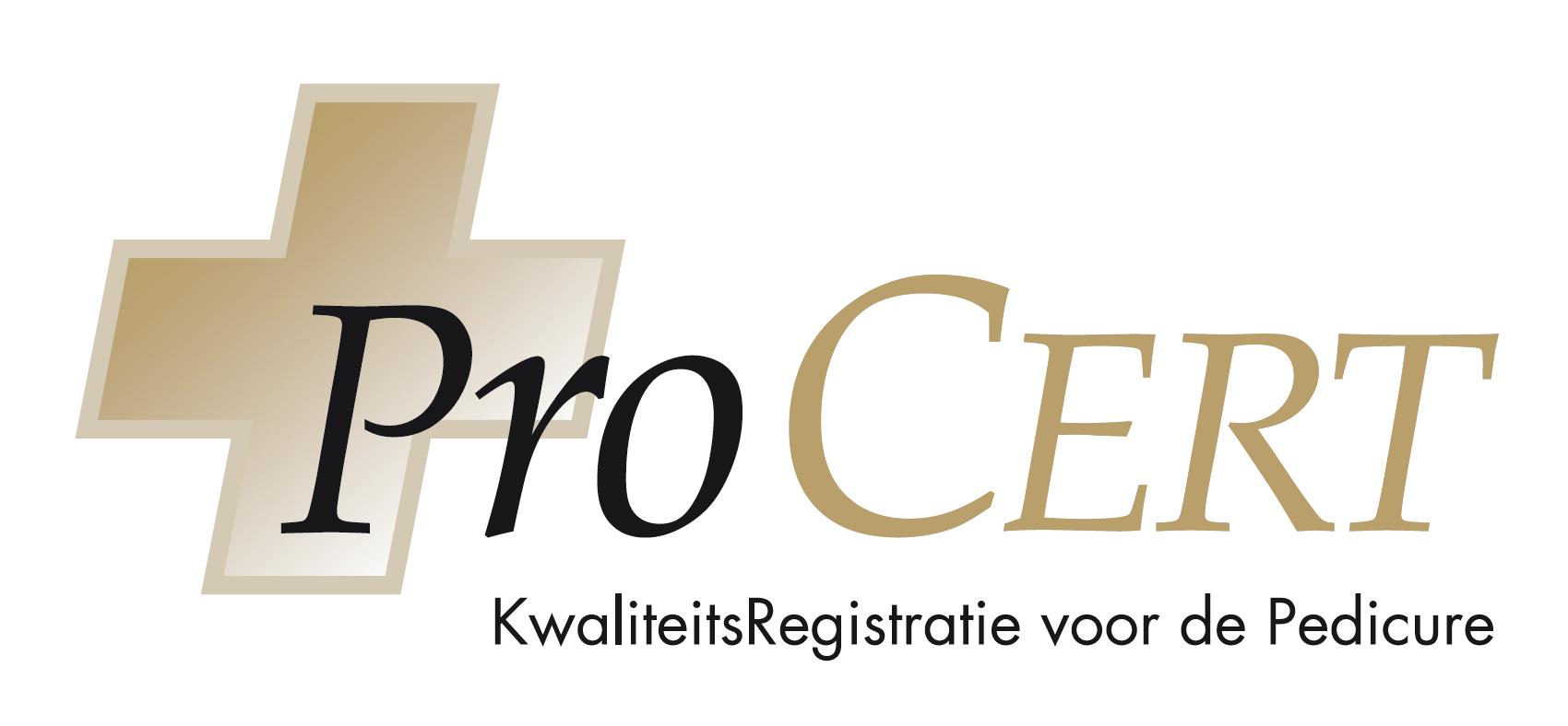 Wij zijn geregistreerd in het kwaliteitsregister voor pedicures ProCert